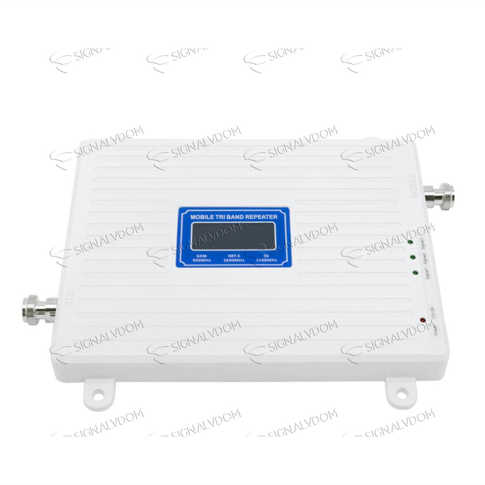 Усилитель сигнала Wingstel 900/2100/2600 mHz (для 2G/3G/4G) 65dBi, кабель 15 м., комплект - 3